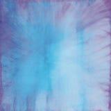 水彩背景蓝色和紫色 库存图片