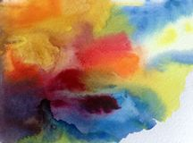 水彩艺术五颜六色摘要的背景 库存照片
