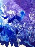 水彩艺术背景五颜六色的圣诞节雪冰样式寒冷冬天 免版税图库摄影