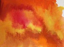 水彩艺术背景摘要五颜六色织地不很细 免版税库存照片