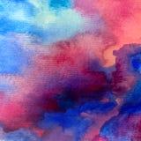 水彩艺术背景摘要五颜六色织地不很细 免版税图库摄影