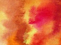 水彩艺术背景摘要秋天五颜六色的织地不很细温暖的冲程 免版税库存照片