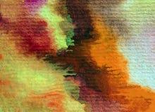 水彩艺术背景摘要秋天五颜六色的织地不很细红色橙黄色温暖的冲程 免版税库存图片