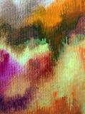 水彩艺术背景摘要秋天五颜六色的织地不很细红色橙黄色温暖的冲程 库存照片