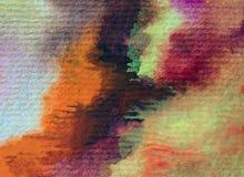 水彩艺术背景摘要秋天五颜六色的织地不很细红色橙黄色温暖的冲程 免版税库存照片
