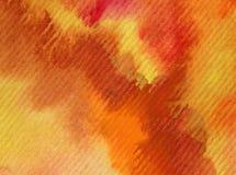 水彩艺术背景摘要秋天沙漠沙子黏土五颜六色的织地不很细红色橙色冲程 皇族释放例证
