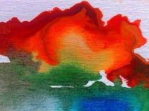 水彩艺术背景精美五颜六色的创造性的蓝色秋天污点弄脏overfow天空自然 免版税图库摄影
