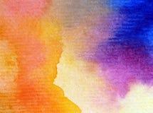 水彩艺术背景精美五颜六色的自然天空日出彩虹新鲜浪漫 库存照片