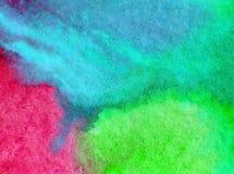 水彩艺术背景精美五颜六色自然海洋海在水面下新鲜浪漫 免版税库存图片
