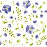 水彩花卉无缝的样式 向量 向量例证