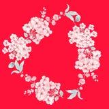 水彩花玫瑰色牡丹水彩花玫瑰色牡丹 库存照片