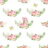 水彩花纹花样 库存图片