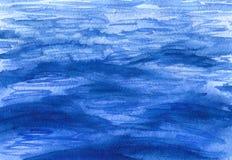 水彩蓝色挥动表面背景 库存图片