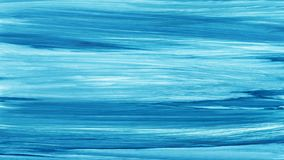水彩蓝色白色手画刷子冲程 抽象背景蓝线 生动的水彩画波浪 海样式 库存例证