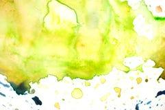 水彩调色板特写镜头  免版税库存照片