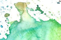 水彩调色板特写镜头  免版税库存图片