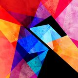 水彩颜色摘要几何背景 免版税库存照片