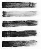 水彩 套抽象黑水彩冲程背景 库存图片