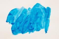 水彩 绘在一张白色纸片的污点 抽象水彩 免版税库存照片