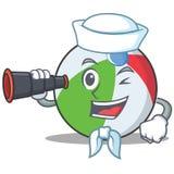 水手球字符动画片样式 图库摄影