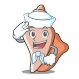 水手逗人喜爱的壳字符动画片 库存照片