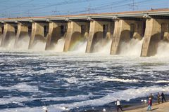 水放电 库存照片