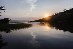 水日落横向 库存图片