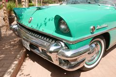 水星在利马陈列的Montclair小轿车 免版税库存照片