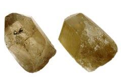 水晶另外查出的石英二张视图 库存照片