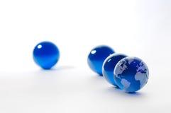 水晶地球 库存图片