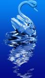 水晶天鹅 库存图片