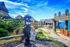 水晶小海湾原史雕象,是一个小海岛那 库存图片