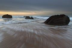 水晶小海湾岩石  库存图片