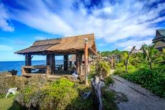 水晶小海湾看法,是一个小海岛吸引游览 库存照片