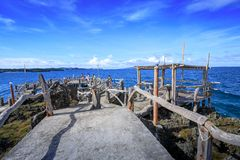 水晶小海湾看法,是一个小海岛吸引游览 库存图片
