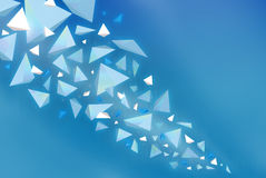 水晶展开 免版税库存照片