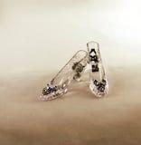 水晶拖鞋 库存图片