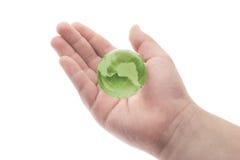 水晶日地球地球绿色 免版税库存照片