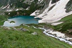 水晶横向山河 库存照片