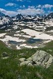 水晶横向山河 图库摄影