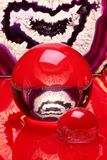 水晶玛瑙的球 库存图片