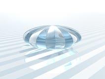 水晶玻璃对象反射 免版税库存图片