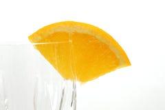 水晶玻璃橙色楔子 免版税库存照片