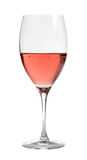 水晶玻璃玫瑰酒红色 图库摄影