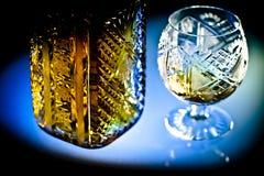 水晶硬件和酒精 库存图片