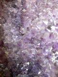 水晶紫色 库存照片