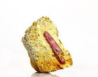 水晶自然红宝石 库存图片