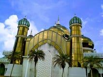 水晶马来西亚清真寺被射击的被采取的terengganu是 库存图片