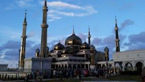水晶马来西亚清真寺被射击的被采取的terengganu是 图库摄影