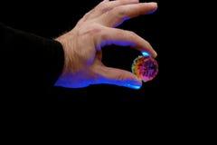 水晶魔术师 库存图片